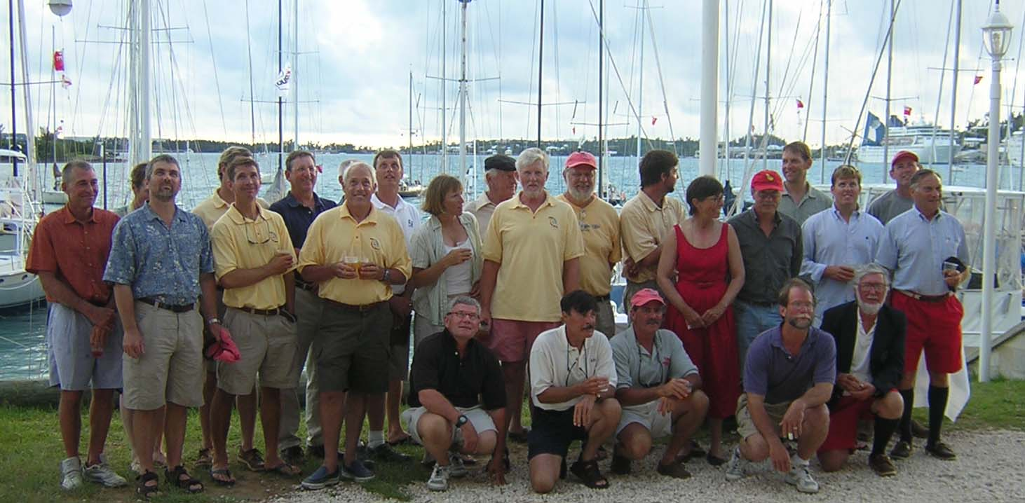 2005 Bermuda One-Two Skippers at St. George's Dinghy & Sports Club at Awards Night.